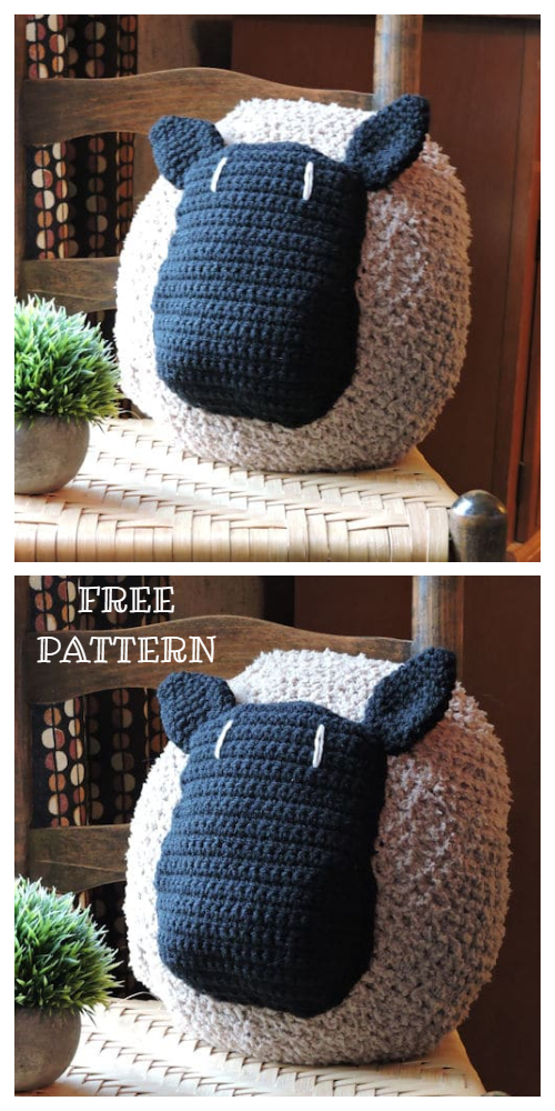Lamb Sheep Pillow Free Crochet Patterns