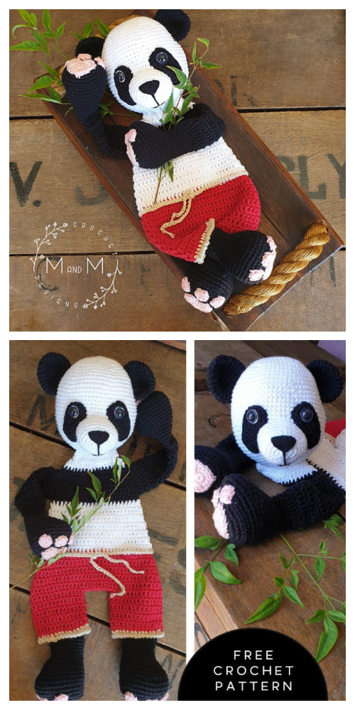 Giant Ragdoll Panda Animal Free Crochet Patterns