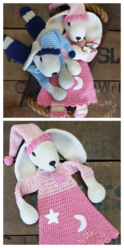 Ragdoll Sleepy Bunny Animal Free Crochet Patterns