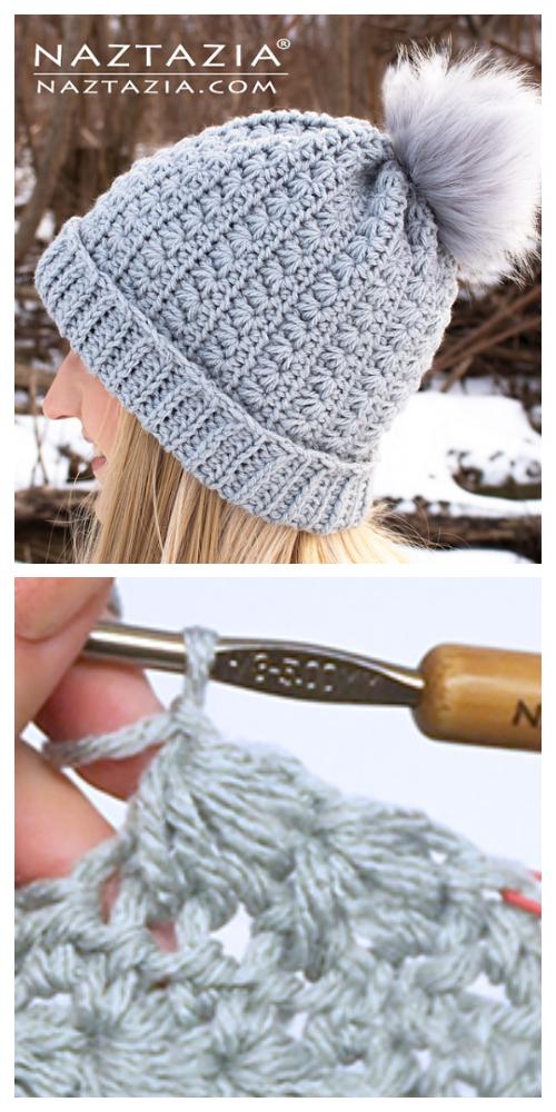 Star Stitch Hat Free Crochet Patterns + Video