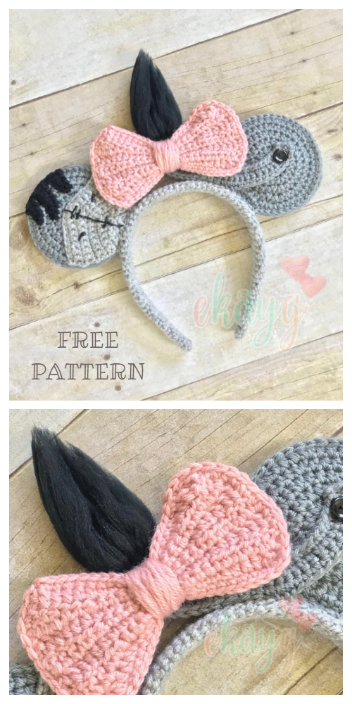 Eeyore Mouse Headband Free Crochet Patterns