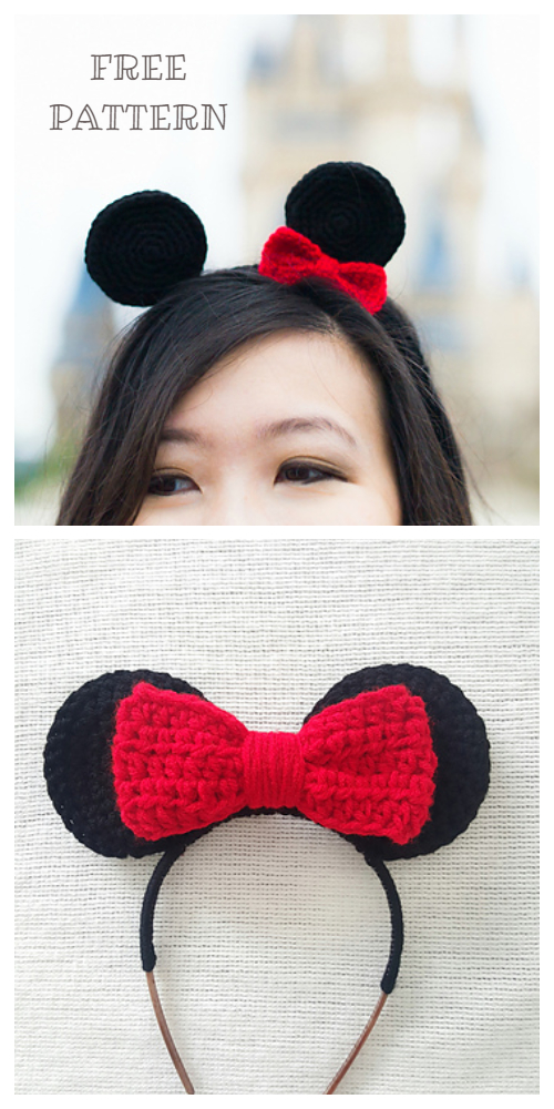 Minnie Mouse Headband Free Crochet Patterns