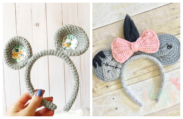 Easy Mouse Headband Free Crochet Patterns