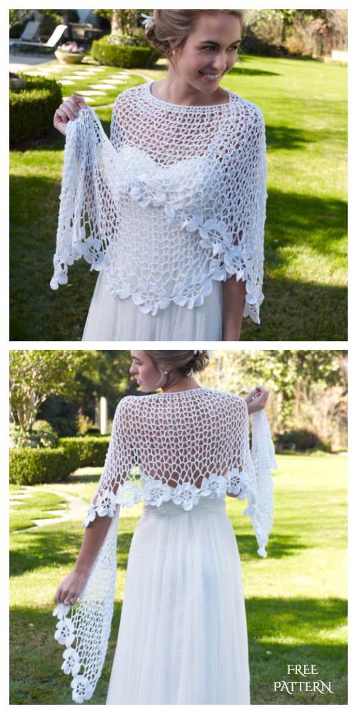 Bridal Shawl Free Crochet Patterns