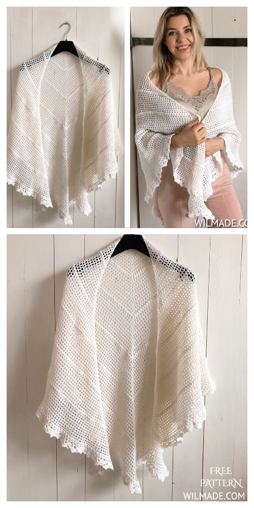 Bridal Wedding Shawl Free Crochet Patterns