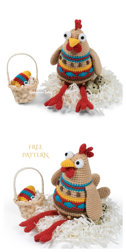 Crochet Easter Chicken Amigurumi Free Patterns
