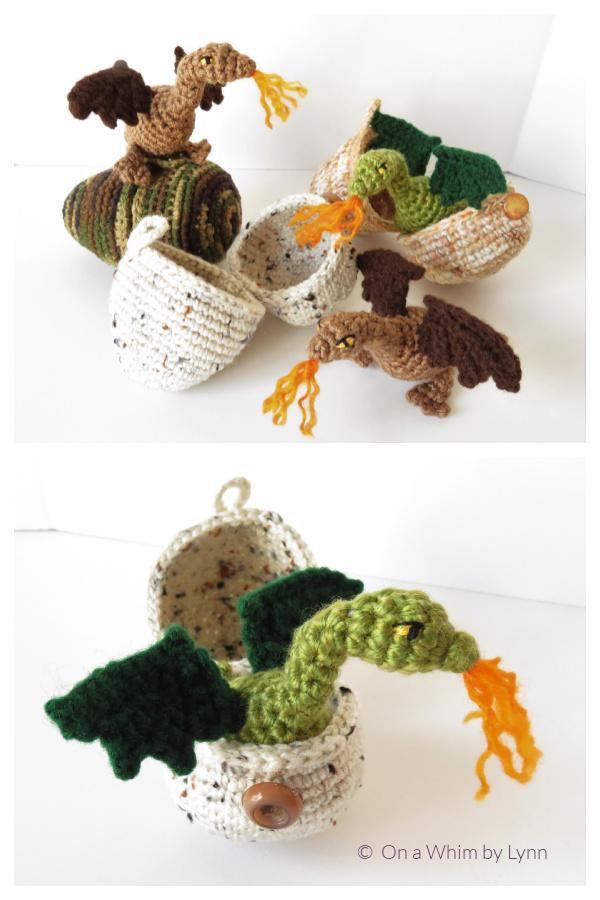 Crochet Tiny Dragon in Egg Amigurumi Patterns