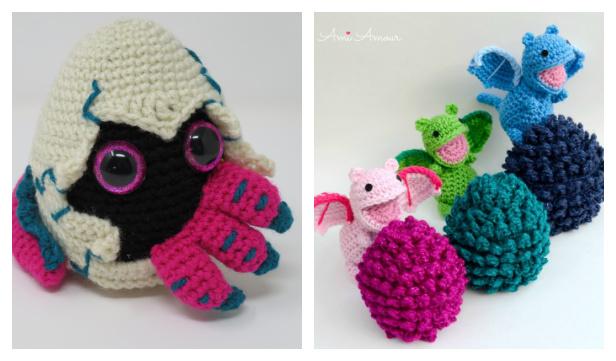 Crochet Baby Dragon Amigurumi Free Patterns