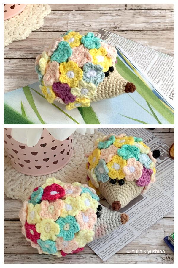 Crochet Flower Hedgehog Amigurumi Free Patterns