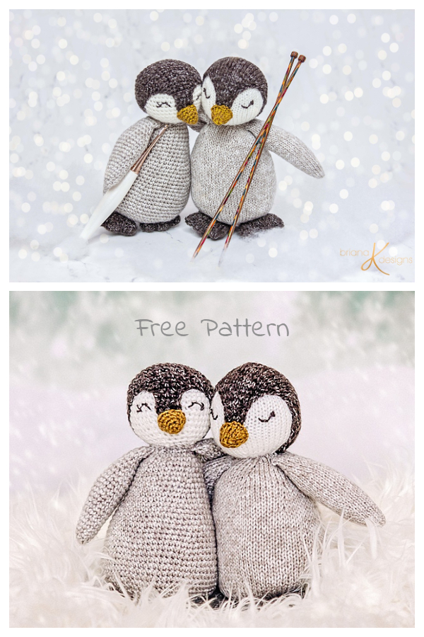 Crochet Penguin Buddy with Outfits Amigurumi Free Patterns