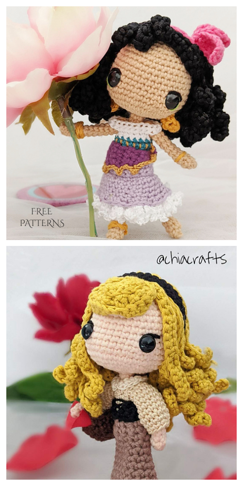 Crochet Princess Doll Amigurumi Free Patterns