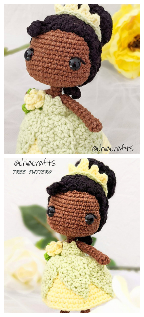 Crochet Tiana Princess Doll Amigurumi Free Patterns