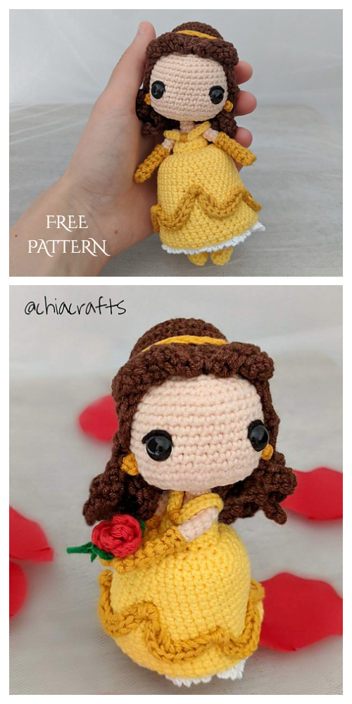 Crochet Belle Princess Doll Amigurumi Free Patterns