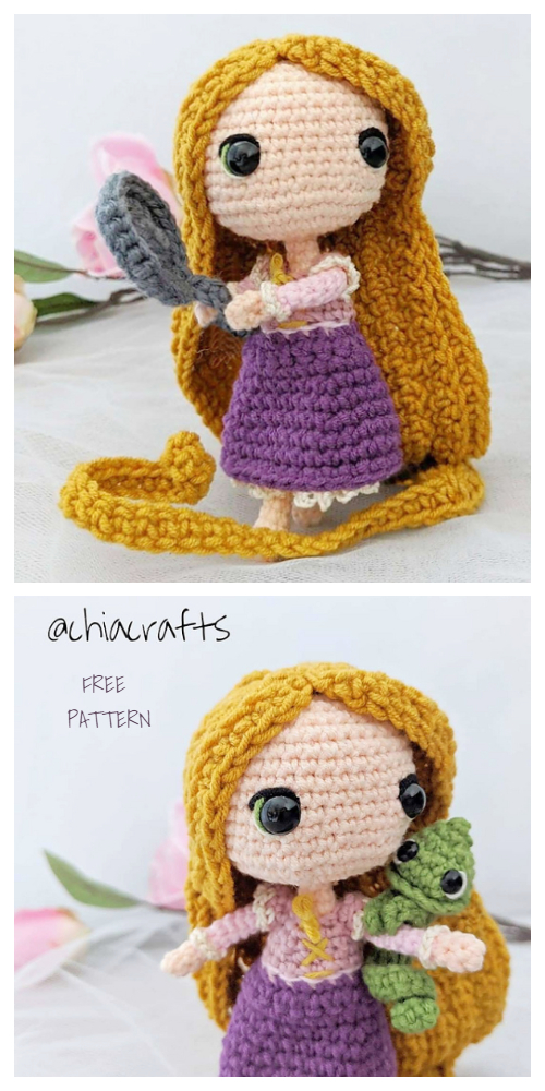 Crochet Princess Doll Rapunzel Amigurumi Free Patterns