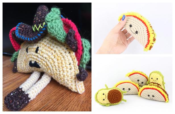 Crochet Happy Little Taco Amigurumi Free Patterns