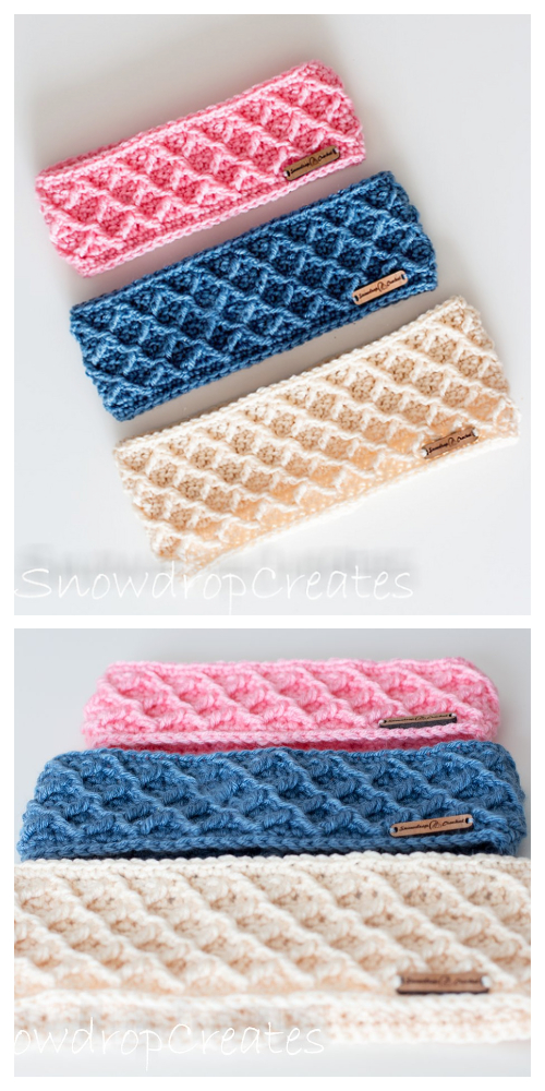 Diamonds Headband Free Crochet Patterns