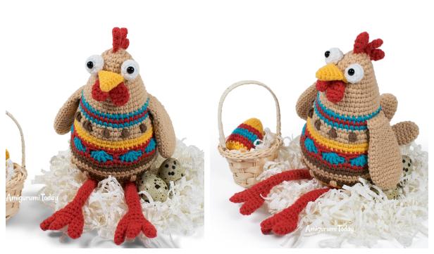 Crochet Easter Chicken Amigurumi Free Patterns