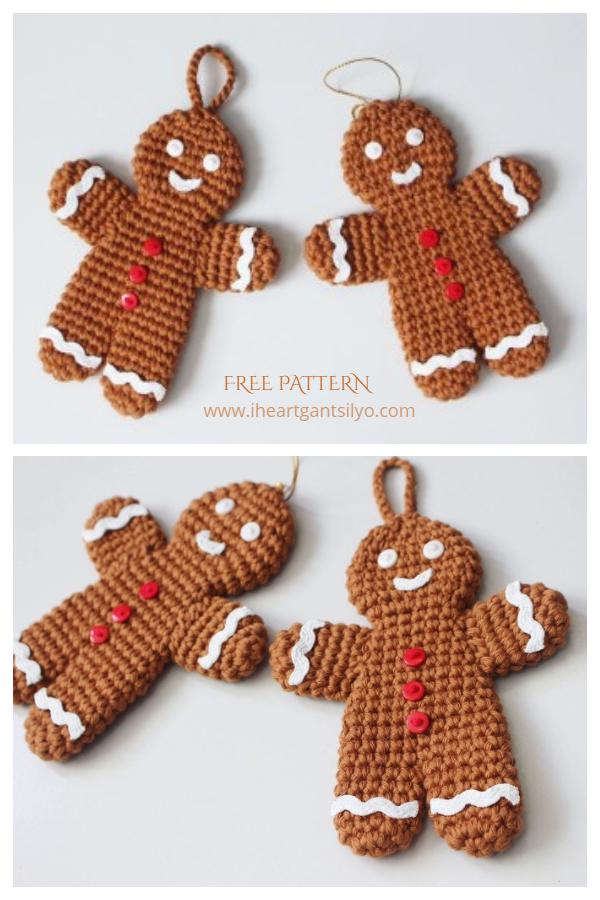 Gingerbread Man Ornament Free Crochet Patterns