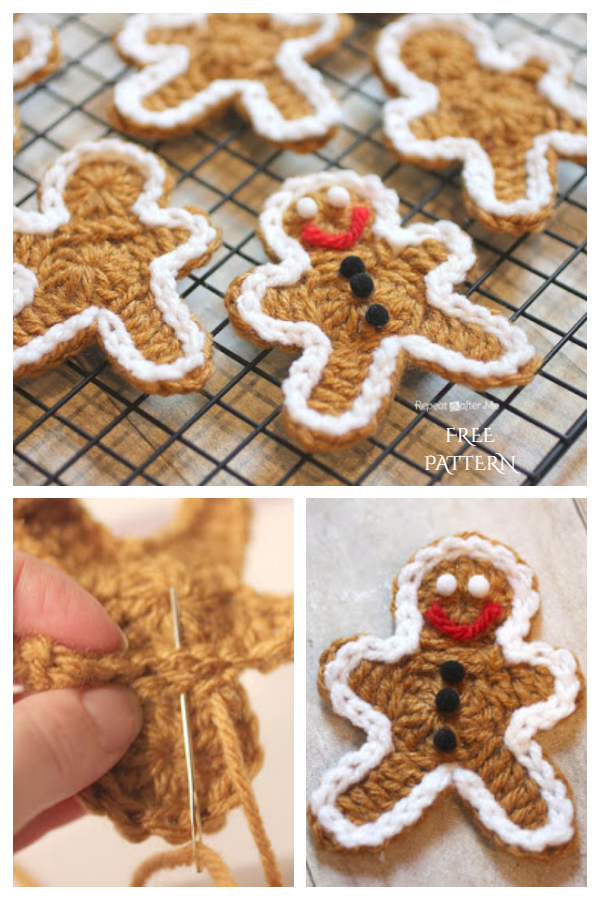 Gingerbread Man Ornament Free Crochet Patterns