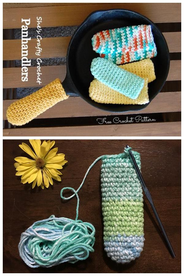 Panhandler's Pan Handle Covers Free Crochet Patterns