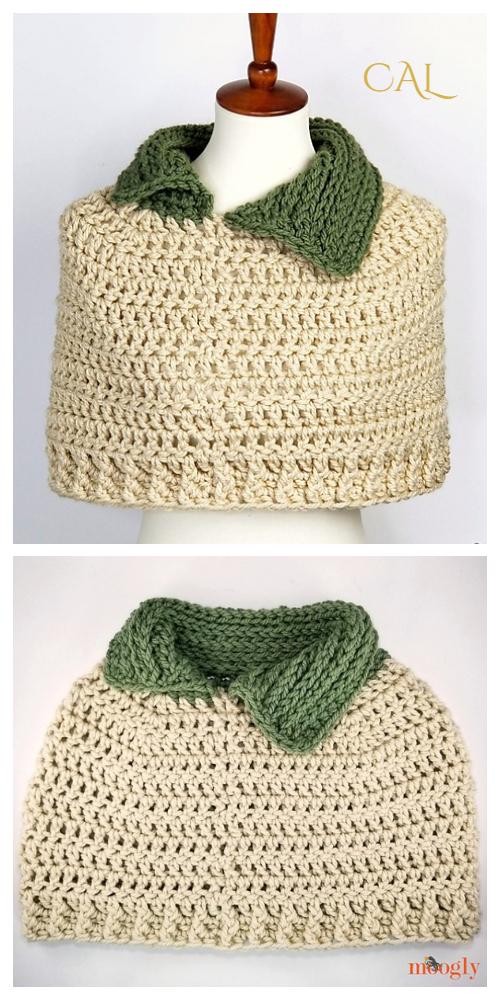 Leap Day Capelet Free Crochet Pattern