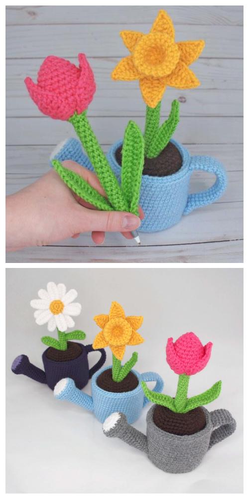 May Flowers Pen Cozy Free Crochet Patterns
