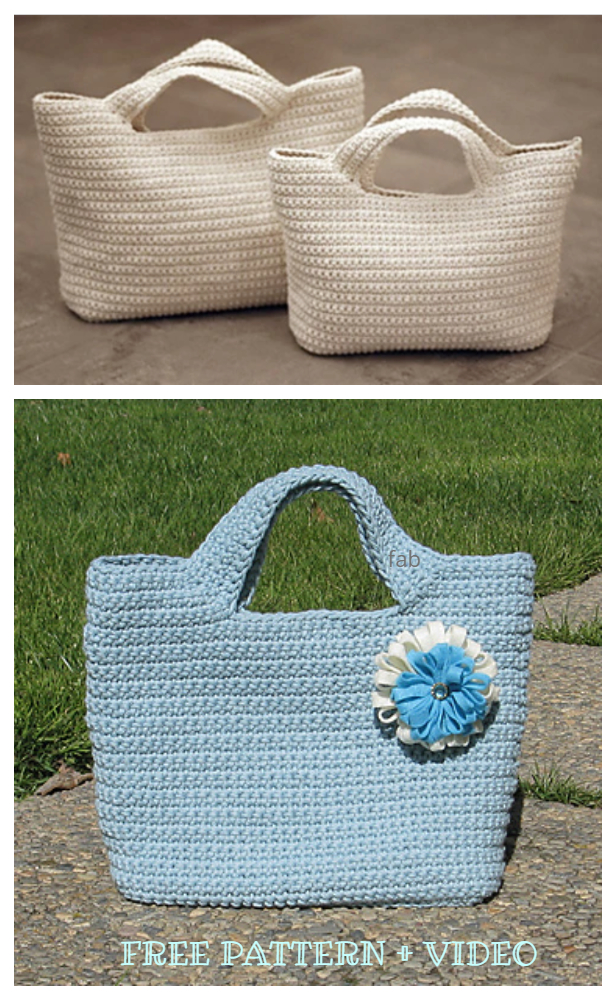 Starling Handbag Free Crochet Pattern + Video