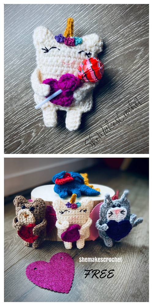 Valentine Candygram Unicorn Free Crochet Patterns