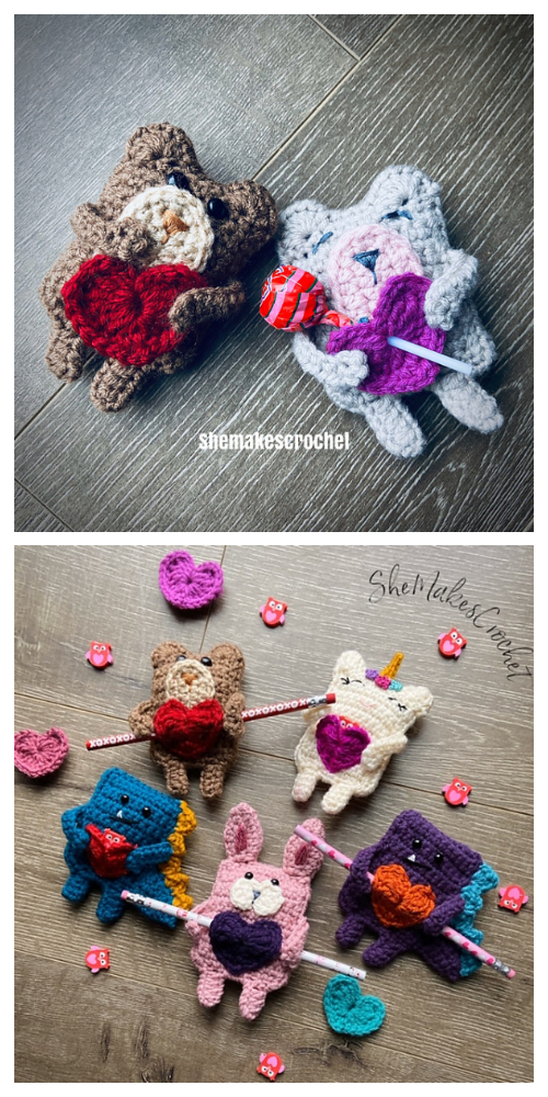 Valentine Candygram Bunny Free Crochet Patterns