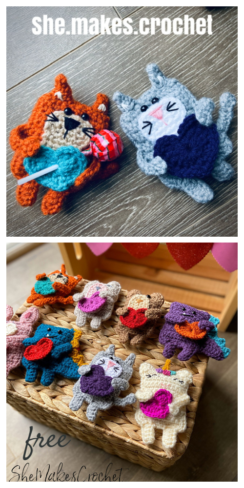 Valentine Candygram Bear Free Crochet Patterns