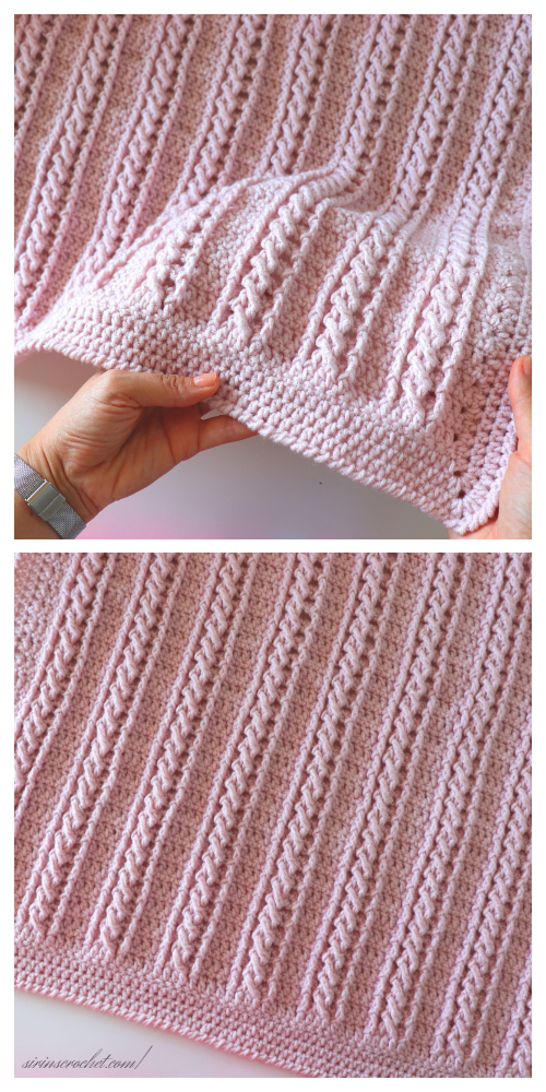 Very Easy Cable Blanket Free Crochet Pattern + Video