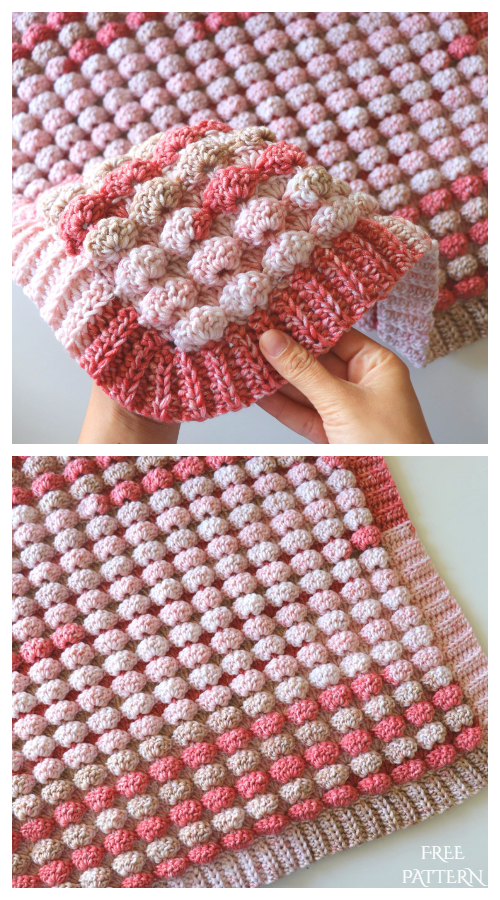 3D Candy Blanket Free Crochet Pattern + Video