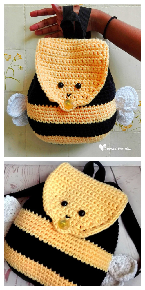 Bumble Bee Backpack Free Crochet Pattern for Kids