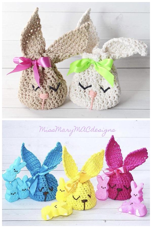 Bunny Treat Bag Crochet Patterns