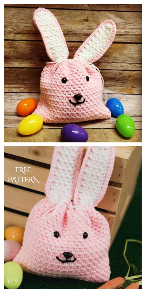 Sunny Bunny Easter Gift Bag Free Crochet Patterns