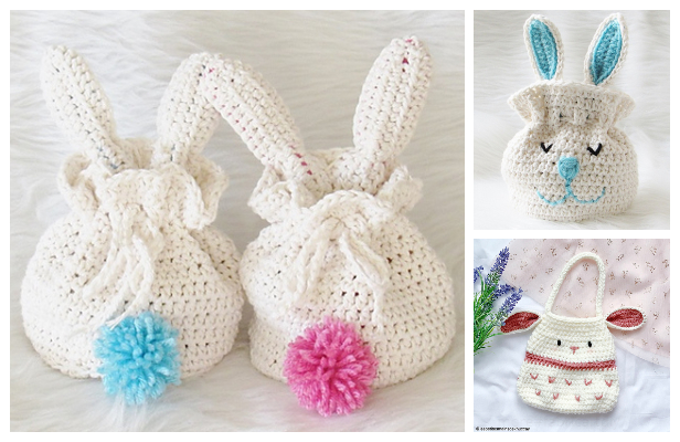 Bunny Pouch Easter Bag Free Crochet Patterns