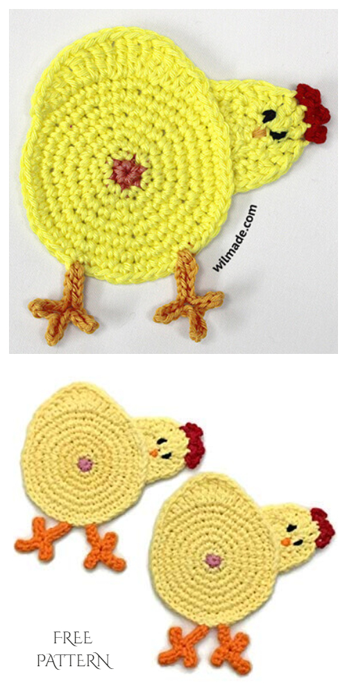 Chicken Butt Coasters Free Crochet Patterns + Video