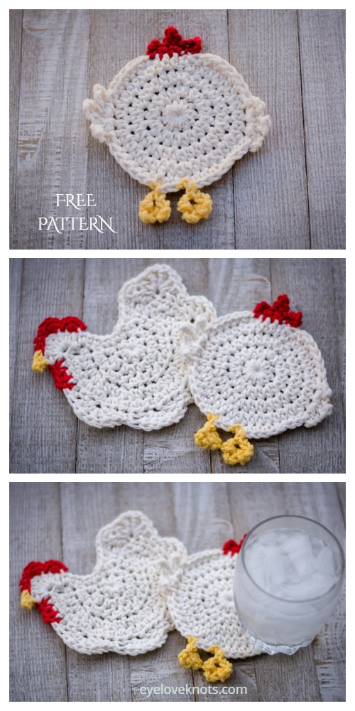 Chicken Butt Coasters Free Crochet Patterns