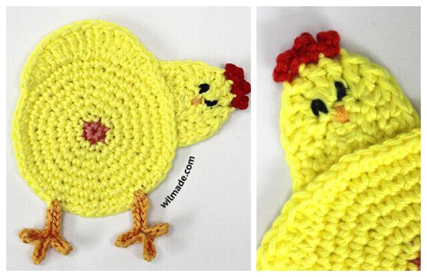 Chicken Butt Coasters Free Crochet Patterns + VideoChicken Butt Coasters Free Crochet Patterns + Video