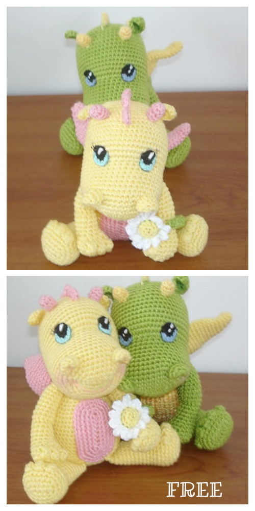 Crochet BB Dragon Amigurumi Free Patterns