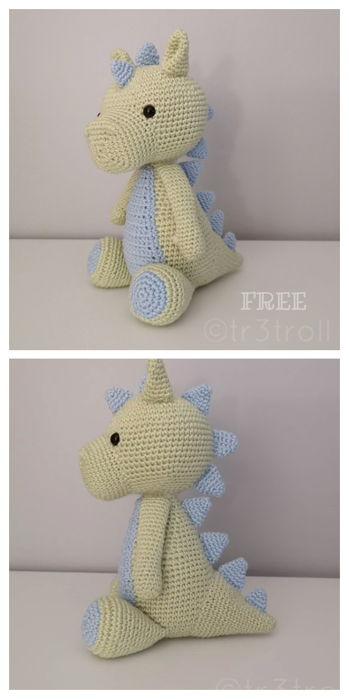 Crochet Baby Dragon Amigurumi Free Patterns