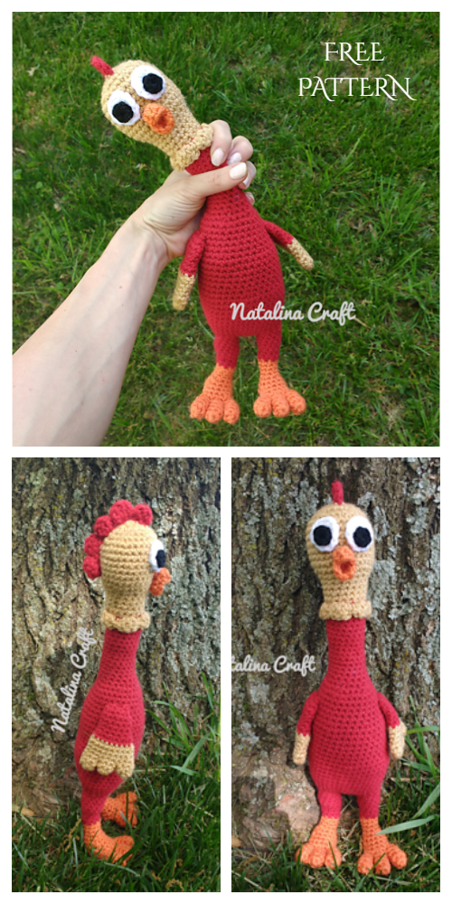 Crochet Rubber Chicken Amigurumi Free Patterns