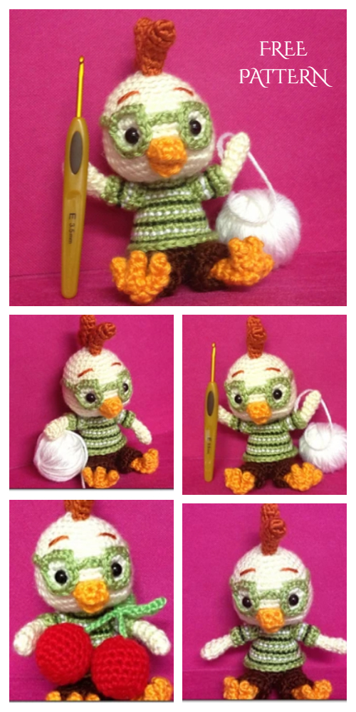 Crochet Little Chicken Doll Amigurumi Free Patterns