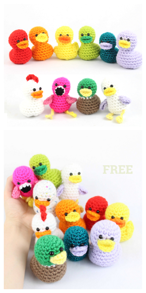 Crochet Duck Amigurumi Free Patterns