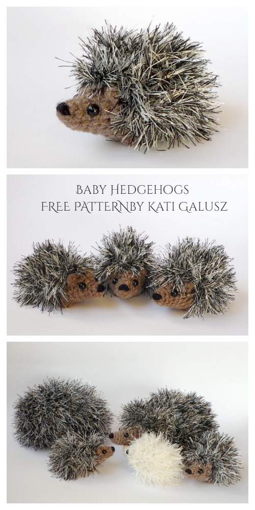 Crochet Baby Hedgehogs Amigurumi Free Patterns