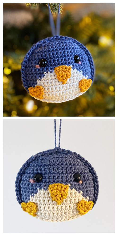 Crochet Penguin Ornament Amigurumi Free Patterns