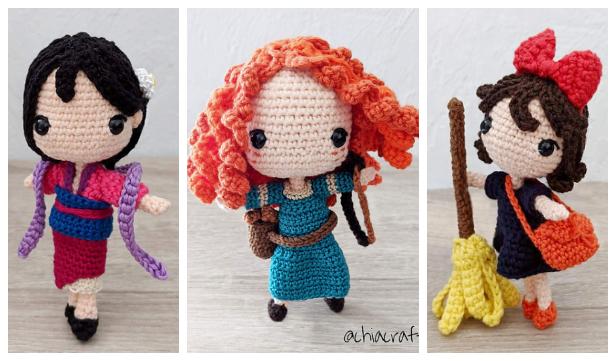 Crochet Kiki Witch Princess Doll Amigurumi Free Patterns
