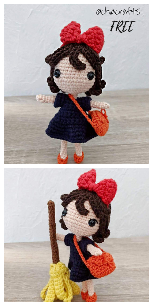 Crochet Kiki Witch Princess Doll Amigurumi Free Patterns