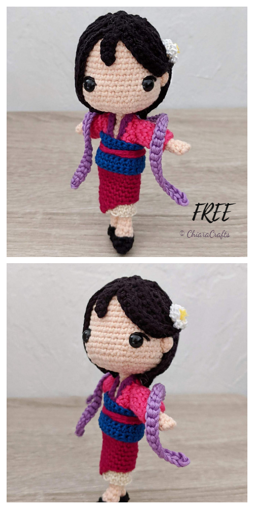 Crochet Mulan Princess Doll Amigurumi Free Patterns