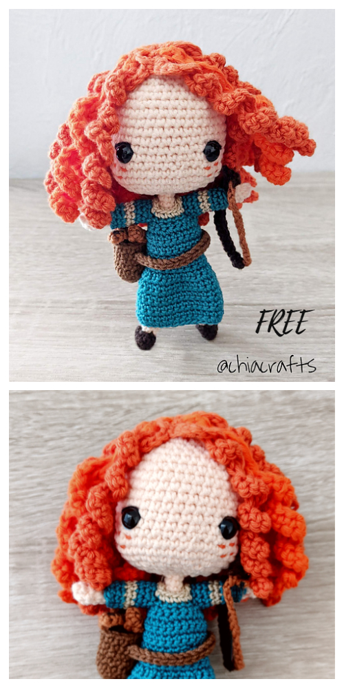 Crochet Merida Princess Doll Amigurumi Free Patterns